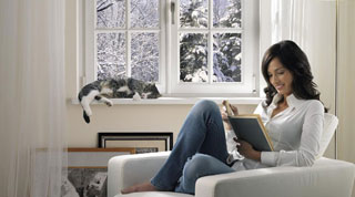 Mit modernen Fenstern haben Eisblumen keine Chance