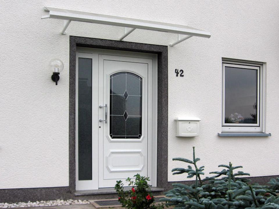 aluminiumvordach edelstahlvordach metallbau hunold olpe. Black Bedroom Furniture Sets. Home Design Ideas