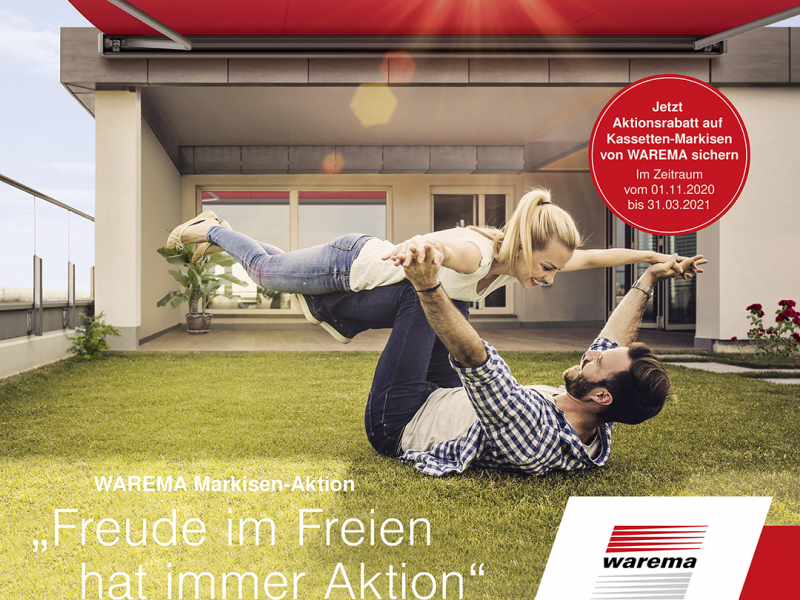 Markisen Aktion – Attraktive Preise bei WAREMA Kassetten Markisen